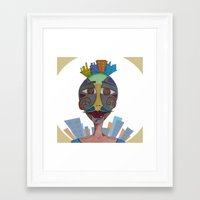 moustache Framed Art Prints featuring Moustache by BNK Design
