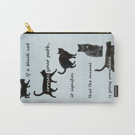 Black cat crossing, v.2 Carry-All Pouch
