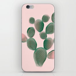 Watercolored Cactus on Pink iPhone Skin
