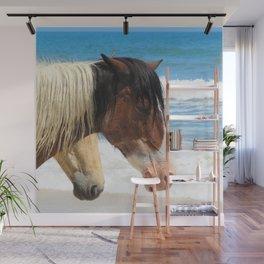 Watercolor Horse 43, Assateague Pony, Assateague, Maryland, Heat Stroke Wall Mural