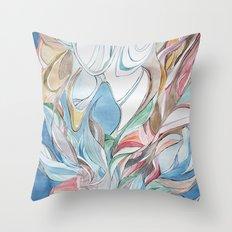 Spring blues Throw Pillow