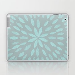 Mandala Flower #3 #mint #grey #drawing #decor #art #society6 Laptop & iPad Skin
