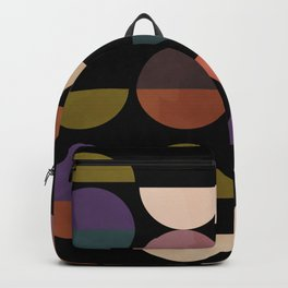 mid century abstract geometric autumn 3 Backpack