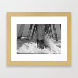 Pier View B/W Framed Art Print