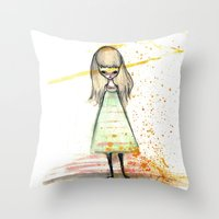 sister Throw Pillows featuring Sister by solocosmo