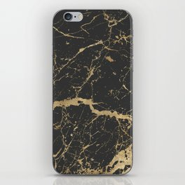 Marble Black Gold - Whistle iPhone Skin