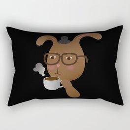 Man Bunny Rectangular Pillow