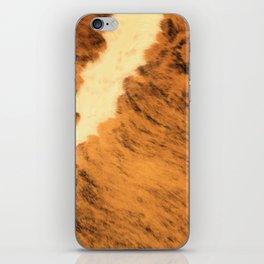 Burnt Orange Texas Longhorn Animal Leather Pattern iPhone Skin