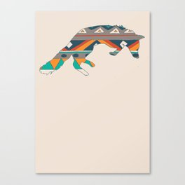 Graphic Foxy Canvas Print