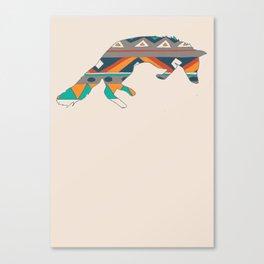 Graphic Foxy Canvas Print