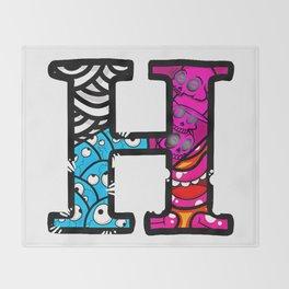 initial H Throw Blanket