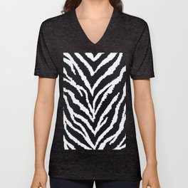 Zebra fur texture Unisex V-Neck