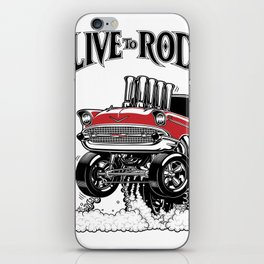 1957 CHEVY CLASSIC HOT ROD iPhone Skin