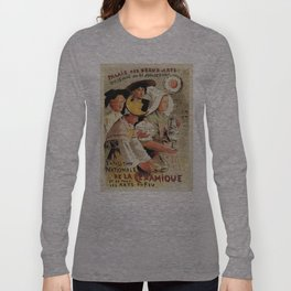 French belle epoque pottery expo advertising Long Sleeve T-shirt