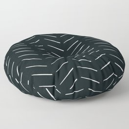 MOD_RepeatBrokenArrows_Charcoal Floor Pillow