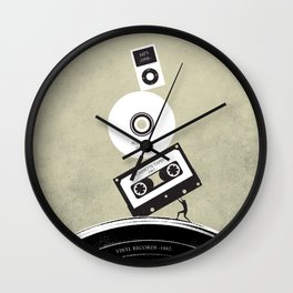 Music Evolution Art Wall Clock