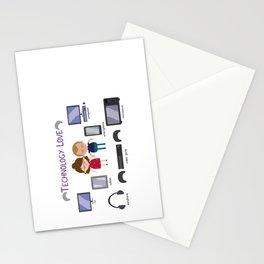Technology Love Stationery Cards