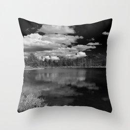 Sprague Lake under Clouds Throw Pillow