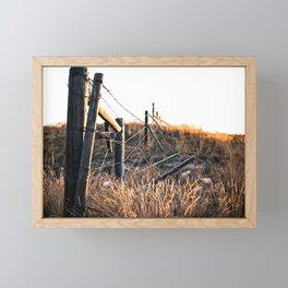 Fence in Color Framed Mini Art Print