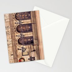 Christmas night at Boston Public Library Stationery Cards