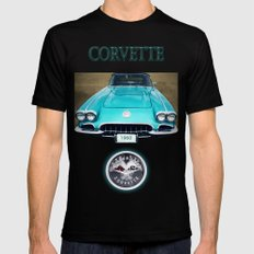 1960 Corvette Mens Fitted Tee Black SMALL
