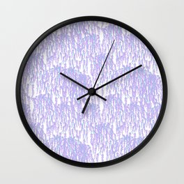 Cascading Wisteria in Lilac + White Wall Clock