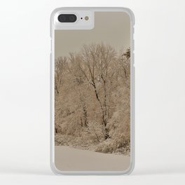 Snowy White with Zeke Filter Clear iPhone Case