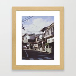 Turn left Framed Art Print
