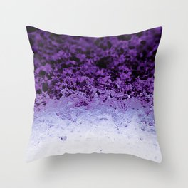 Purple Crystal Ombre Throw Pillow