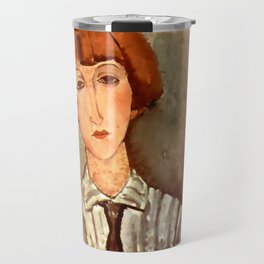 "Amedeo Modigliani ""Young Girl in a Striped Blouse"" Travel Mug"