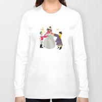 snowman Long Sleeve T-shirts featuring Snowman by Design4u Studio