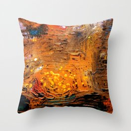 Spatial sea Throw Pillow
