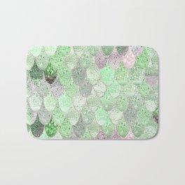 SUMMER MERMAID - GREEN & PINK Bath Mat