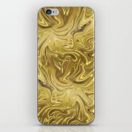 Rich Gold Shimmering Glamorous Luxury Marble iPhone Skin