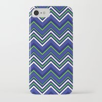 preppy iPhone & iPod Cases featuring Preppy Chevron by Jolene Ink
