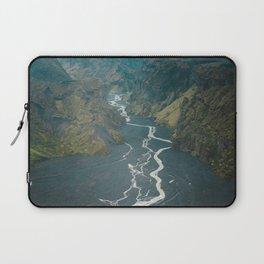 Braided Rivers in Þórsmörk, Iceland Laptop Sleeve