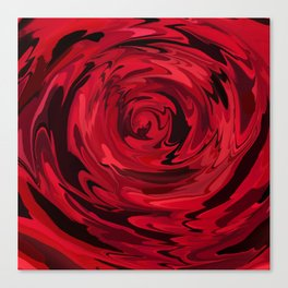 Red Rose Abstract Close up Canvas Print