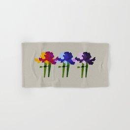 colorful iris screen print design Hand & Bath Towel