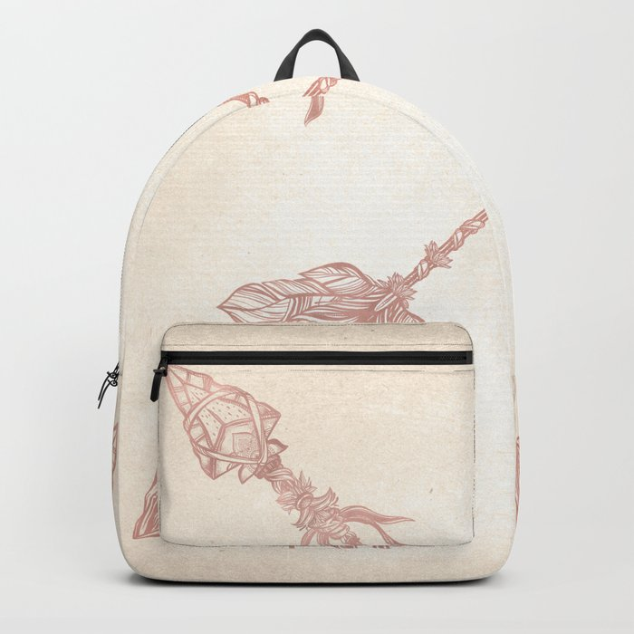 Tribal Arrows Rose Gold on Paper Backpack