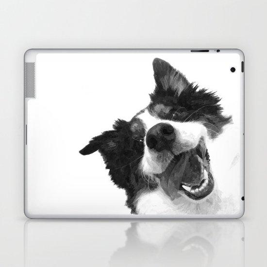 Black and White Happy Dog by alemi