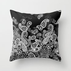 paisley pileup Throw Pillow