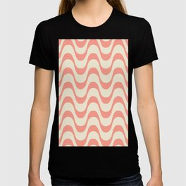 Summer in Rio - Living Coral Copa Cabana Pattern T-shirt