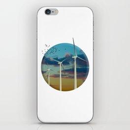 Wind Turbines Painted Sky iPhone Skin