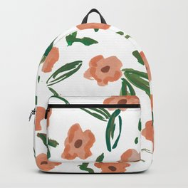 Live Simply Floral Pattern Backpack