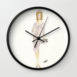 Coco and the Pillbox Hat Wall Clock