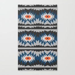 Wintry ethnic pattern Canvas Print