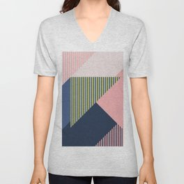 Color Blocking Minimal 1 Unisex V-Neck