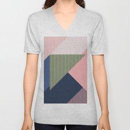 Color Blocking Minimal 1 Unisex V-Neck