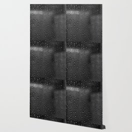 Black and White Rain Drops; Abstract Wallpaper