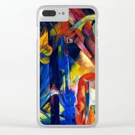 """Franz Marc """"Forest with squirrel"""" Clear iPhone Case"""